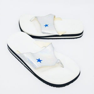 Converse All Star Womens Sandal Slip On Blue Star